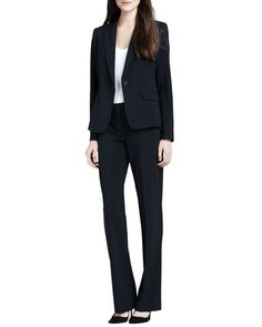 -4KXW Theory Gabe 2 One-Button Blazer, Juin 2 Short-Sleeve Tee & Max 2 Suit Pants
