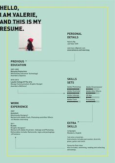 Valerie Ng creative resume template