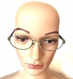 Valentino V5071 130 Designer Silver Tone Eyeglass Frames - EUC #Valentino