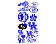 Kentucky Svg Kentucky Monogram Frame Svg Kentucky Dxf