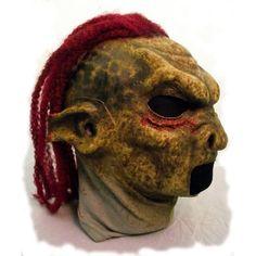 Balaclava Orc Monster Mask - Red Dreads by Mandala-Studios on DeviantArt Red Dreads, Monster Mask, Fantasy Costumes, Balaclava, Larp, Vikings, Mandala, Lion Sculpture, Skull