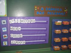 A FÁBRICA DAS PALABRAS Pre K Activities, Classroom Activities, Special Educational Needs, School Tool, Spelling And Grammar, Preschool Education, Pre Writing, Montessori, Speech And Language
