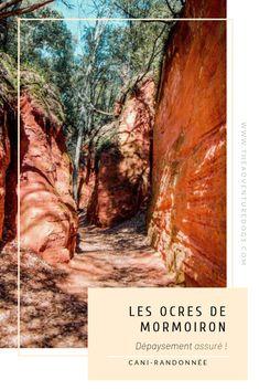 Les Ocre de Mormoiron un dépaysement assuré ! Provence, Trek, Road Trip, To Go, Hiking, World, Sport, Places, France Travel