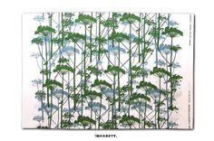 Marimekko PUTKINOTKO Fabric 0.9 YARDS Curtains Blinds WALL ART blue green 1957