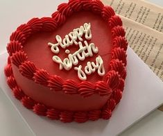 Pretty Birthday Cakes, Pretty Cakes, Funny Birthday Cakes, Mini Cakes, Cupcake Cakes, Frog Cakes, Heart Shaped Cakes, Heart Shaped Birthday Cake, Heart Cakes