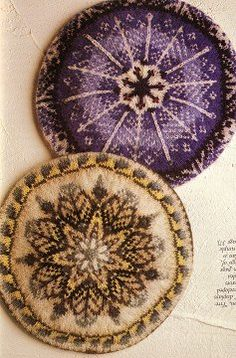 Fair Isle Tams from Knitting in Color ~ Sheila McGregor's Traditional Fair Isle Knitting (very inexpensive Dover reprint) Carol Rasmussen Noble's Knitting Fair Isle Mittens and Gloves (easy to find although some chart errors in the patterns) Ann Feitelson's The Art of Fair Isle Knitting (probably out-of-print by now??) Alice Starmore's Book of Fair Isle Knitting (excellent book on the subject but you'll most likely have to sell one of your children to get a copy)