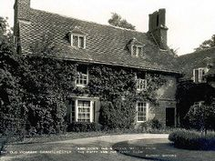 The Old Vicarage, Grantchester - poet Rupert Brooke rented rooms here before the First World War. Today it belongs to Jeffrey & Mary Archer. I have been lucky enough to have tea in their lovely garden with The Rupert Brooke Society.