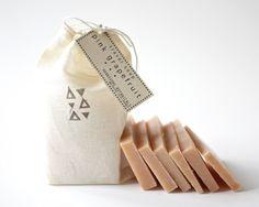 Travel Soap - 6 mini soaps - Pink Grapefruit - Ginger - 100% Natural Vegan Handmade Soap