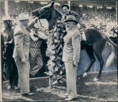 Pensive- 1944 Kentucky Derby and Preakness Winner Preakness Winner, Preakness Stakes, Calumet Farm, Horse Racing, Race Horses, Triple Crown Winners, Derby Winners, American Pharoah, Sport Of Kings
