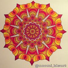 Het tweede enige echte mandala kleurboek voor volwassenen, mandala, kleuren voor volwassenen, stabilo stiften
