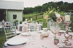 blush pink mercury glass wedding #southalleden