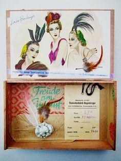 mano kellner, project 2013, kunstkiste nr 40, louise boulanger Diorama, Art Boxes, Tin Art, Altoids Tins, Mixed Media Collage, Box Frames, Shadow Box, Journaling, Digital Art