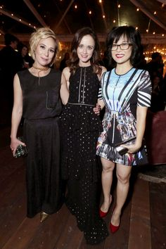 """GILMORE WOMEN Liza Weil, Alexis Bledel and Keiko Agena attended Netflix's Gilmore Girls: A Year in the Life"""" premiere party in Los Angeles on Friday. Eric Charbonneau/Invision for Netflix/AP StarTraks 19 Nov 2016"""