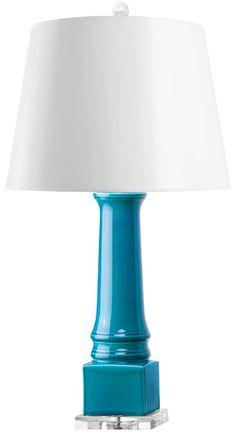 Bungalow 5 Adelle Turquoise Lamp | Polka Dot Peacock