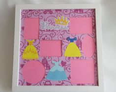 Disney Themed Princess Picture Frame Princesses Collage Photo Frames Bibbidi Bobbidi Disney World Disneyland Vacation Home Decor Gift Disneyland Vacation, Disney Vacations, Collage Picture Frames, Collage Photo, Disney Collage, Princess Pictures, 6 Photos, Disney Inspired, Scrapbooking Layouts