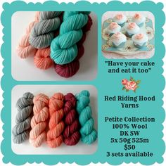 """Have Your Cake and Eat It Too Petite Collection - """"Pick Your Poison"""" Triptych Stocking Yellow And Brown, Orange Yellow, Pick Your Poison, Ribbon Yarn, Triptych, Red Riding Hood, Yarns, Color Inspiration, Crochet Projects"""