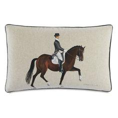Equestrian Gait Down Throw Pillow