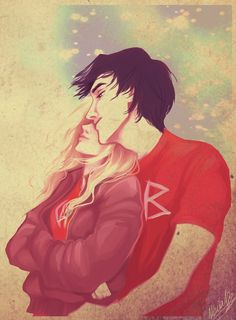 Percy and Annabeth (aka my favorite couple to read about EVER, adventure romance is the best).