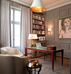 Best Traditional Home Office Design Ideas - Office Room - Info Virals - New Fashion and Home Design around the World Home Office Space, Home Office Design, Home Office Furniture, Home Office Decor, House Design, Home Decor, Library Design, Design Desk, Office Ideas