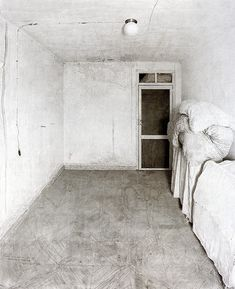 Antonio Lopez Garcia, Room in Tomelloso 1972, pencil