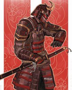 ArtStation - For Honor - Berserker, Conqueror, Highlander, Orochi, Erik Ly Fantasy Character Design, Character Concept, Character Inspiration, Character Art, Concept Art, Ronin Samurai, Samurai Warrior, For Honor Characters, For Honor Samurai