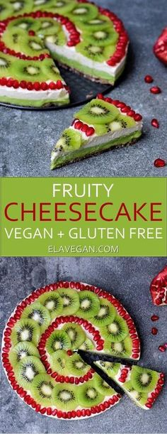 Fruity cheesecake vegan recipe. This no bake vegan cheesecake is gluten free and easy to make