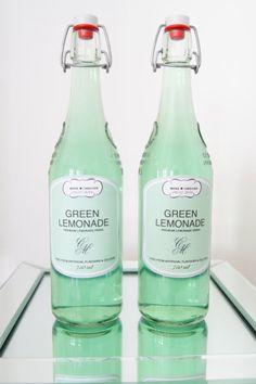 mint green wedding bottles