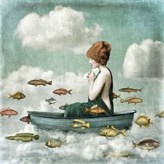 Christian Schloe / Surrealismo y arte / Surrealism and art: Christian Schloe. Illustrations, Illustration Art, Pop Surrealism, Art Graphique, Fish Art, Whimsical Art, Surreal Art, Collage Art, Fantasy Art