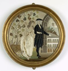 Emma Hamilton is supposed to have worked this needlework picture on silk after…