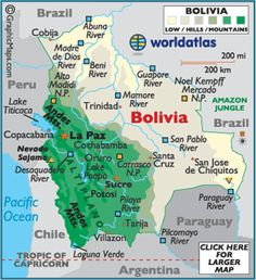 Map of bolivia la paz bolivia south america maps boliva map loved the sweet people i met in bolivia spent a week in santa cruz and then traveled to la paz and spend an amazing afternoon boating on lake titicaca gumiabroncs Gallery