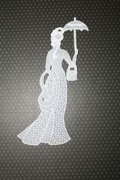 femme ombrelle et sac
