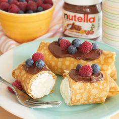 Try ricotta in these cheese blintzes and top with Nutella and fresh fruit.