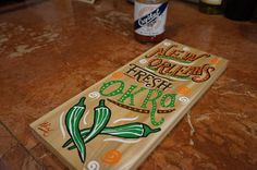 New Orleans wood sign Original painting hand painted  rustic