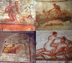 The 'menu' of services was painted on the walls of the brothels. Some say the city was destroyed because of its sin.