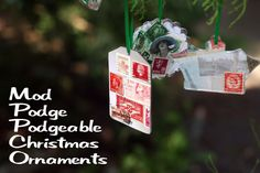 Mod Podge Podgeable Christmas Ornaments