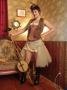 Steampunk tulle skirt