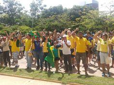 Moradores de Paragominas protestaram contra o governo Dilma. (Foto: Organização do evento/ Divulgação)18/03/2016.