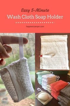 Easy 5 Minute Wash Cloth Soap Holder Craft Ideas Pinterest