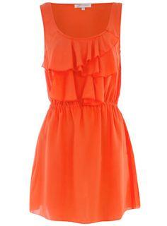 Orange ruffle front dress  Was $35.00  Now $17.00