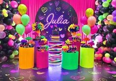 Neon Party Themes, Neon Party Decorations, Halloween Party Decor, Birthday Decorations, Baby Shower Decorations, 13th Birthday Party Ideas For Girls, Dance Party Birthday, Neon Birthday, 13th Birthday Parties