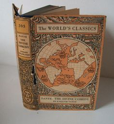 VINTAGE OLD HARDBACK BOOK THE WORLDS CLASSIC THE DIVINE COMEDY OF DANTE ALGHIERI