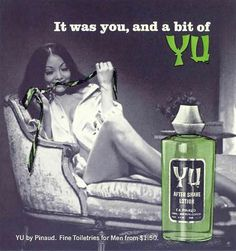 1968 Advertisement for Yu After Shave