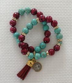 love the tassle Tassel Jewelry, Beaded Jewelry, Jewelery, Stone Bracelet, Stone Jewelry, Handmade Bracelets, Bangle Bracelets, Bracelet Making, Jewelry Making