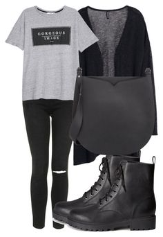 """""""Untitled #3325"""" by madinab ❤ liked on Polyvore featuring H&M, Topshop, MANGO and Valextra"""