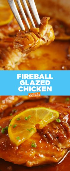 If you aren't putting Fireball on your chicken, you're SERIOUSLY missing out. Get the recipe at Delish.com. #fireball #fireballwhiskey #whiskey #whisky #chicken #easyrecipe #recipe #dinner #familydinner #booze #alcohol #sriracha