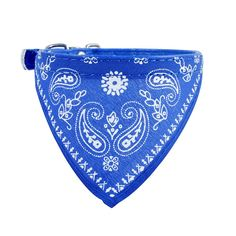 Adjustable Pet Bandana Scarf Collar in Dark Blue