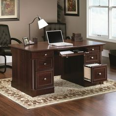 Found it at Wayfair Supply - Uniontown Executive Desk