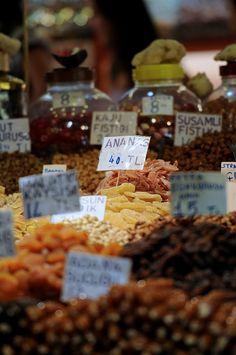 Food of the Bazaar Instanbul, Turkey by Frozen Canuck, via Flickr