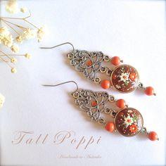 WINTER RUSSET  Elegant handmade polymer clay earrings by TallPoppi, $59.00