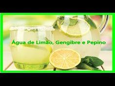 Água de Limão com Gengibre e Pepino para Emagrecer